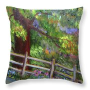 Late Summer At Pennypack Preserve Throw Pillow