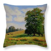 Late Summer Pastoral Throw Pillow