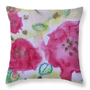 Late Summer Rose I Rosarie Throw Pillow