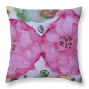 Late Summer Rose V Rosariet Throw Pillow