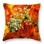 Late Summer Roses Throw Pillow