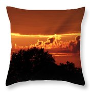 Late Summer Sunset Throw Pillow