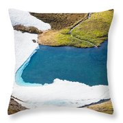 Late Thawing Tarn Throw Pillow