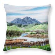 Late Winter In California Throw Pillow