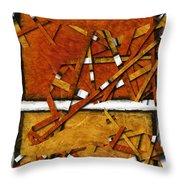 Later In The Morning Abstract Throw Pillow
