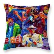 Latin Jazz Throw Pillow