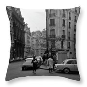 Latin Quarter Paris 3 Throw Pillow