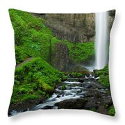 Latourell Falls Oregon Throw Pillow