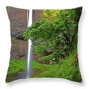 Latourell Falls Oregon Throw Pillow