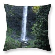 Latourelle Falls-columbia River Gorge Throw Pillow