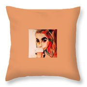 Latte Anyone? Throw Pillow