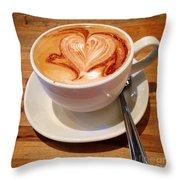 Latte Love Throw Pillow