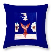Latter Rain Allegory Throw Pillow