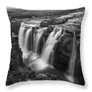 Laugafell Mountain Lodge Waterfalls 3155 Throw Pillow