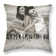 Laugh Out Loud Quote Throw Pillow