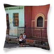 Laughing Boys Throw Pillow