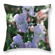 Laughing Iris Throw Pillow
