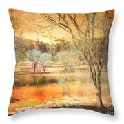 Laughter Amongst Trees Throw Pillow