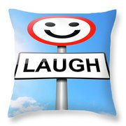 Laughter Concept. Throw Pillow