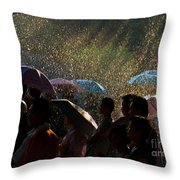Laughter In The Rain Throw Pillow