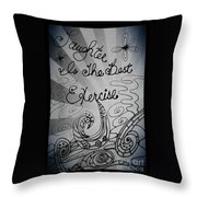 Laughter Is The Best Exercise Throw Pillow