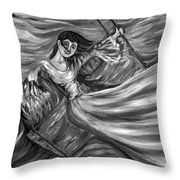 Laughter On The Swings Black And White Throw Pillow