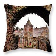 Launceston Castle South Gatehouse Throw Pillow