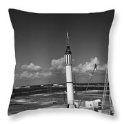 Launching Of The Mercury-redstone 3 Throw Pillow