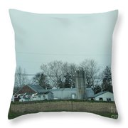 Laundry Day At The Dairy Farm Throw Pillow
