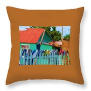 Laundry Day Throw Pillow by Debbi Granruth