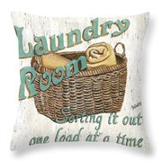 Laundry Room Sorting It Out Throw Pillow