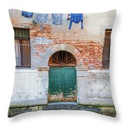 Laundy Hangs In Venice Throw Pillow