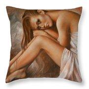 Laura Throw Pillow by Arthur Braginsky