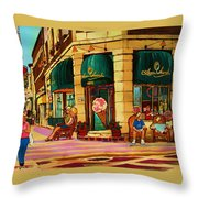 Laura Secord Candy And Cone Shop Throw Pillow