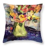 Laura's Antique Vase Throw Pillow