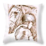 Laura's Horse Throw Pillow