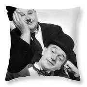 Laurel And Hardy, 1939 Throw Pillow