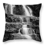 Laurel Falls B And W 2 Throw Pillow