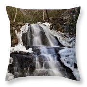 Laurel Falls In Gatlinburg Tennessee Throw Pillow
