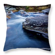 Laurel Flat, Nc - Waterfall Throw Pillow