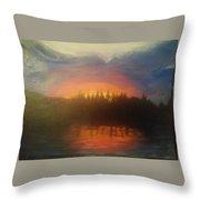 Laurel Lake Throw Pillow