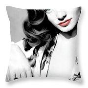 Lauren Bacall Large Size Portrait 2 Throw Pillow