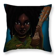 Lauryn Hill Throw Pillow by Nelson Dedos Garcia