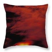 Lava At Dawn Throw Pillow