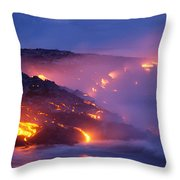 Lava At Twilight Throw Pillow
