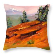 Lava Butte Throw Pillow