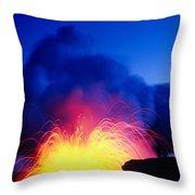 Lava Explodes Throw Pillow