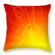Lava Explodes Into Ocean Throw Pillow