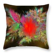 Lava Explosion Throw Pillow