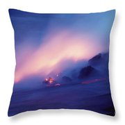 Lava Flows At Twilight Throw Pillow